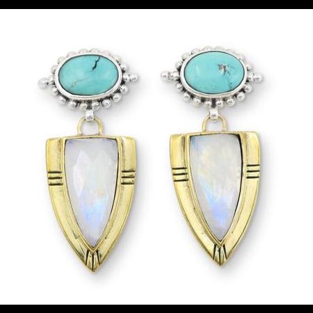 Casius Moonstone Earrings