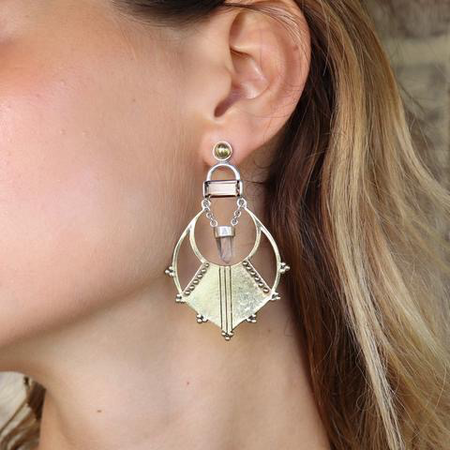 Quartz Chandelier Earrings