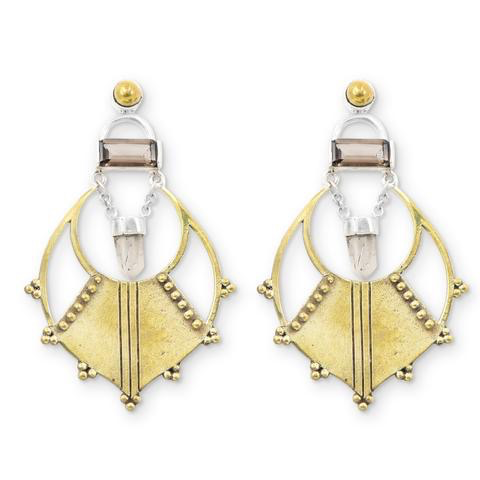 Quartz Chandelier Earrings