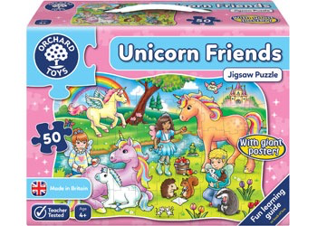 Orchard Jigsaw  - Unicorn Friends Puzzle & Poster