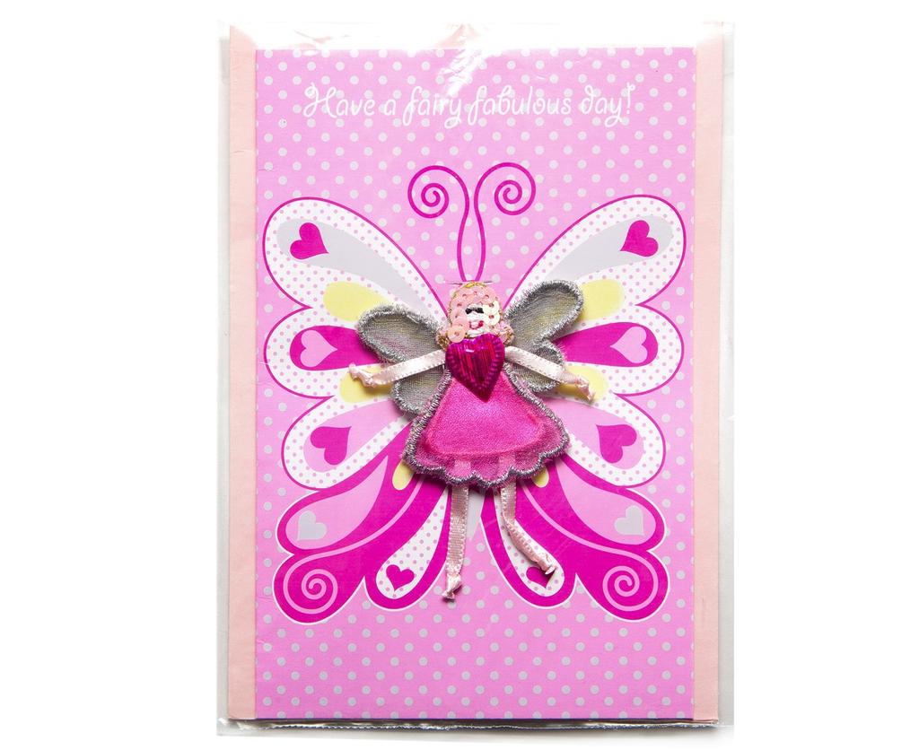 'Fairy fabulous' wings card