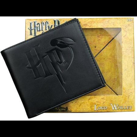Harry Potter - Logo Embossed Black Wallet