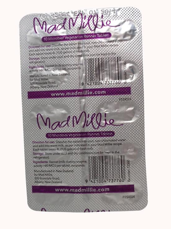 Mad Millie 4L Vegetarian Rennet (Tablet Strip x10)