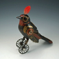 Black Bird on Wheels - Steampunk ornament