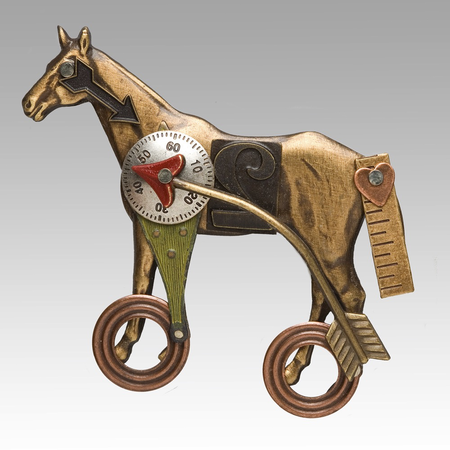 Horse Pin on Wheels