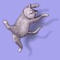 Pin: Gorey-Dancing Cat STG