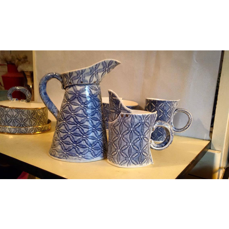 PARISIAN BLUE CAFE SMALL EWER