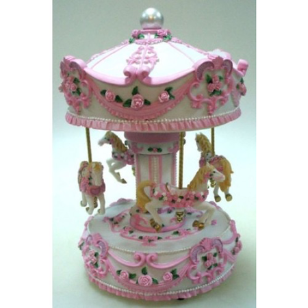 Lrg White/Pink Carousel