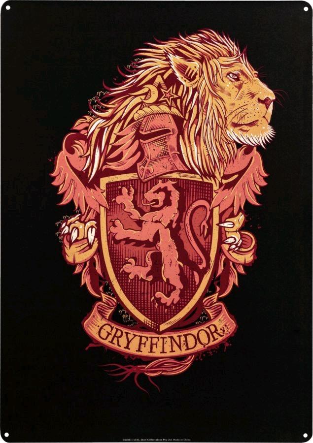 Harry Potter - Gryffindor A3 Tin Sign