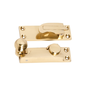 Sash Fastener Reeded Ball Polished Brass L75xW24mm