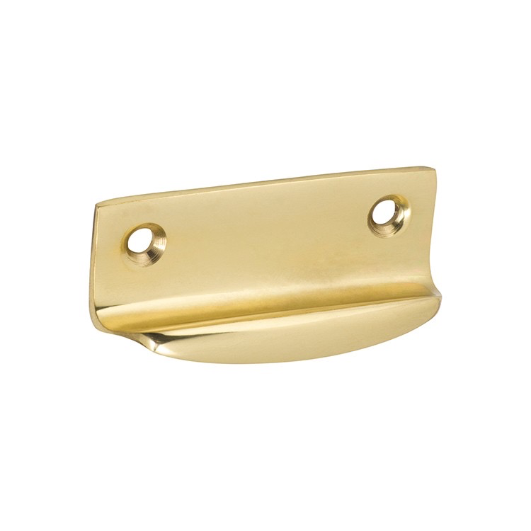Sash Lift Bar Polished Brass H26xW63xP19mm