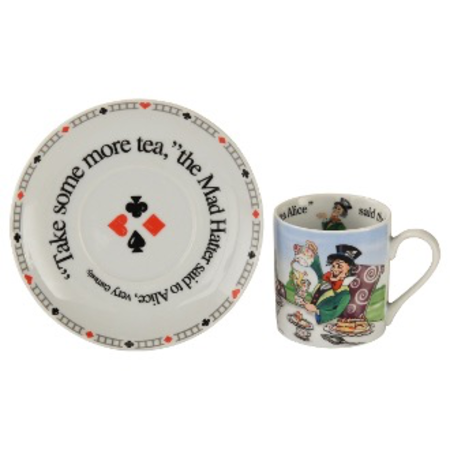 ALICE 60Z CUP & SAUCER MAD HATTER
