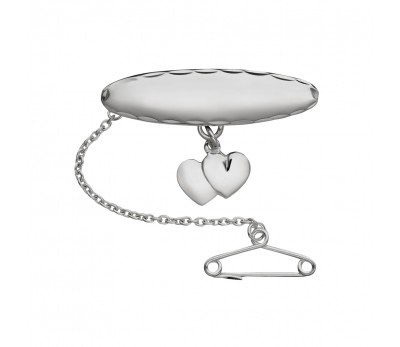 Sterling Silver Brooch with Hearts