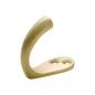 Robe Hook Single Polished Brass H45xP42mm
