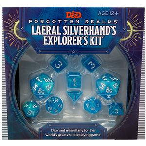 D&D Dungeons & Dragons Forgotten Realms Laeral Silverhands Explorers Kit Dice Set