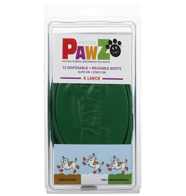 Pawz Pawz Dog Boots, Green, XL