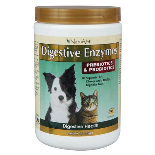 NaturVet NaturVet Digestive Enzymes Powder with Prebiotics & Probiotics 1lb