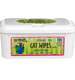 Earthbath Earthbath Green Tea Grooming Wipes for Cats 100 count