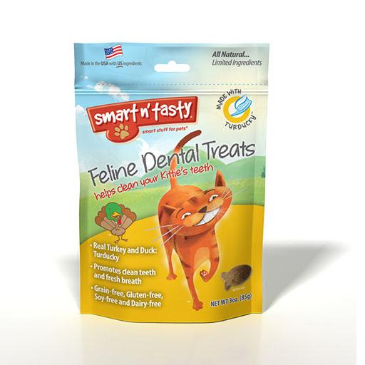 Emerald Pet Products Smart n' Tasty Feline Dental Treat Turducky 3oz