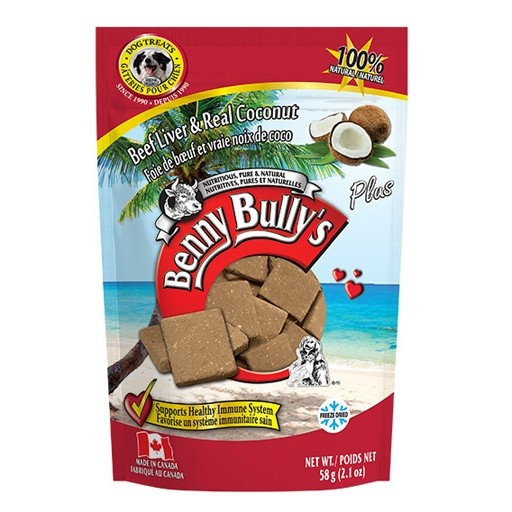 Benny Bully's Benny Bully's Beef Liver Plus Coconut 58g