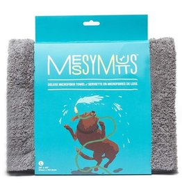 Messy Mutts Messy Mutts Deluxe Microfibre Towel Cool Grey Large