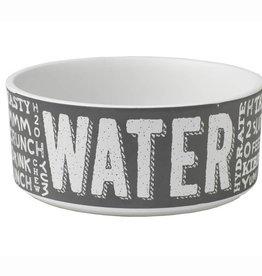 Petrageous Petrageous Chalkboard Food/Water Dark Grey Bowl 2 cups