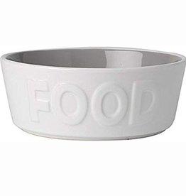 Petrageous Petrageous Back to Basics Food White/Grey Bowl 2.5 cups
