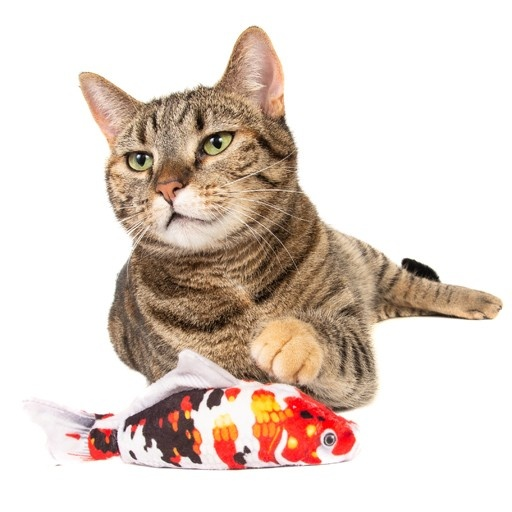 Natural Cat Toy Natural Cat Toy Silver Vine Plush Japanese Koi Cuddle Fish Toy