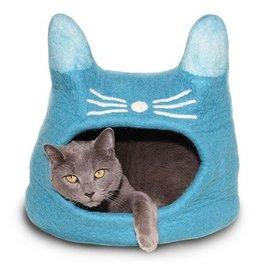 Dharma Dog Karma Cat Dharma Dog Karma Cat Wool Felt Cat Cave Turquoise