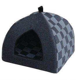 Petpals Petpals Cat House Checkered Cabana Blue
