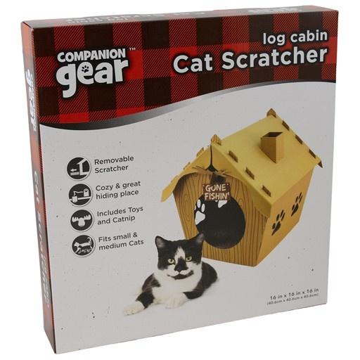 Companion Gear Log Cabin Cat Cardboard Scratcher