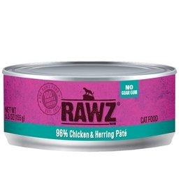 Rawz Rawz Cat Can 96% Chicken & Herring 5.5oz