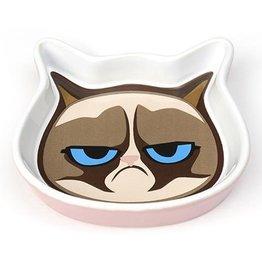 """Petrageous Petrageous Grumpy Cat Face Saucer Pink 5"""""""