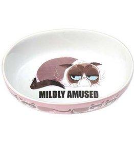 """Petrageous Petrageous Grumpy Cat Mildly Amused Pink 7"""" Bowl 2 cups"""