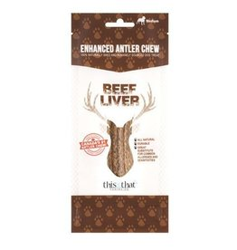 This & That Canine Co. This & That Enhanced Antler Chews Beef Liver Medium