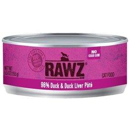 Rawz Rawz Cat Can 96% Duck & Duck Liver 5.5oz