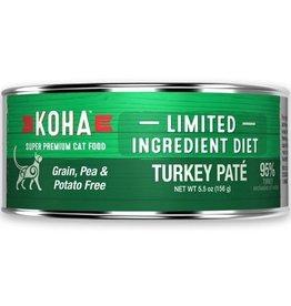 Koha Koha Cat Can 96% Turkey Pate 5.5oz