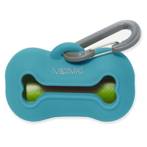 Messy Mutts Messy Mutts Silicone Waste Bag Holder Blue