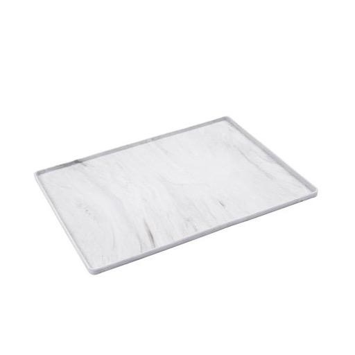 Messy Mutts Messy Mutts Silicone Mat with Raised Edge Marble Small