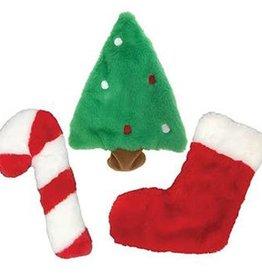 Fou Fou Dog Fou Fou Dog Fuzzy Stuffless Holiday Crinkle Toy Stocking