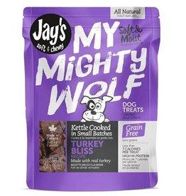 Waggers Jay's My Mighty Wolf Dog Treats Turkey 150g