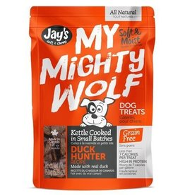 Waggers Jay's My Mighty Wolf Dog Treats Duck Hunter 150g