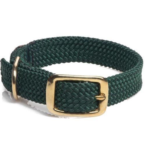 Mendota Mendota Double Braided Collar Junior Brass Hardware