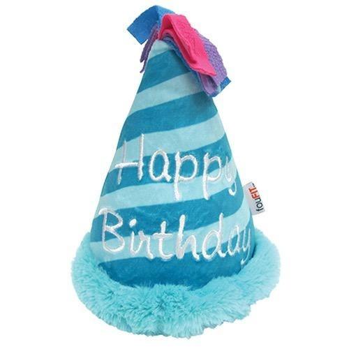 Fou Fou Dog Fou Fou Dog Plush Birthday Crinkle Hat Blue