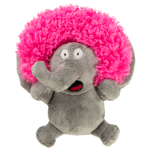 Sherpa Go Dog Silent Squeak Crazy Hairs Elephant Small