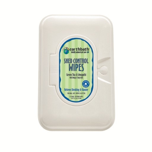 Earthbath Earthbath Shed Control Grooming Wipes 100ct