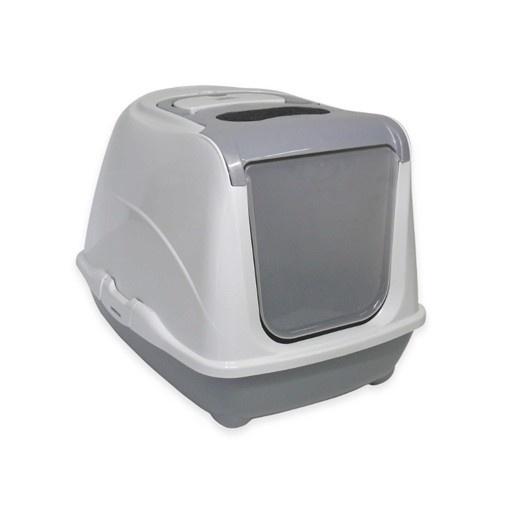 Moderna Moderna Flip Cat Enclosed Litter Box Warm Grey Jumbo