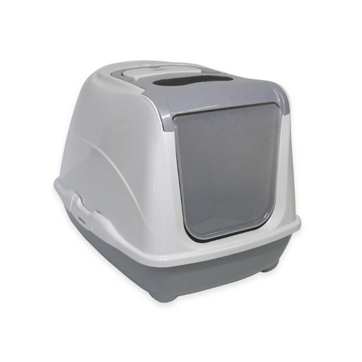 Moderna Moderna Flip Cat Enclosed Litter Box Warm Grey Large