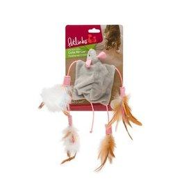 Petlinks Petlinks Cutie Mouse Feathered Crinkle Toy