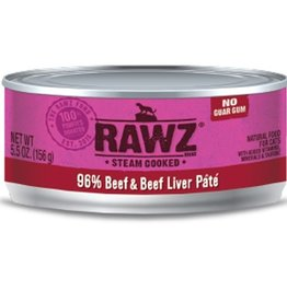 Rawz Rawz Cat Can 96% Beef & Beef Liver 5.5oz